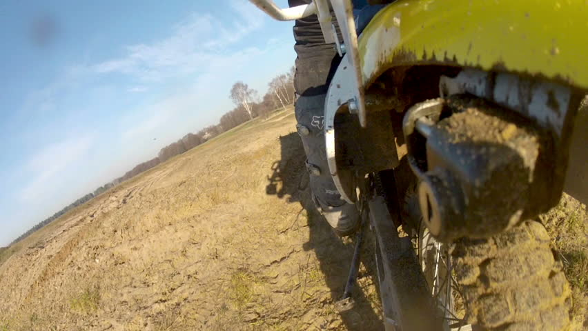 riding bike pov closeup