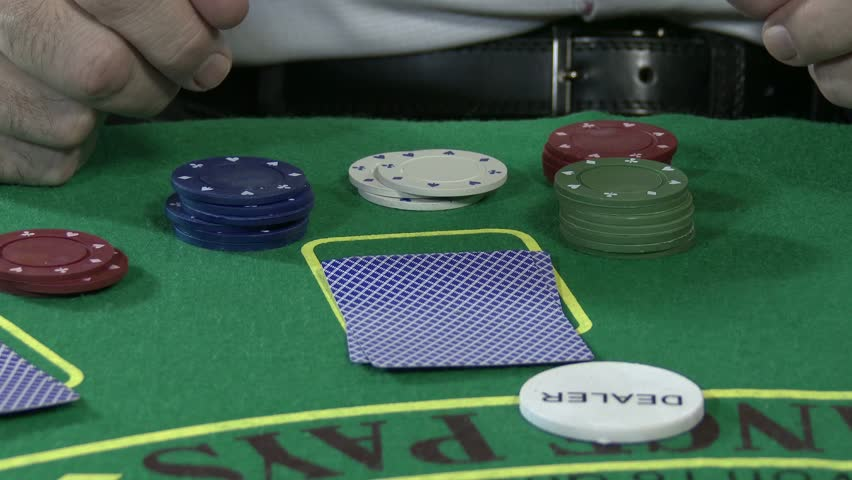 4k Poker Table Casino Gambling Game Setup With