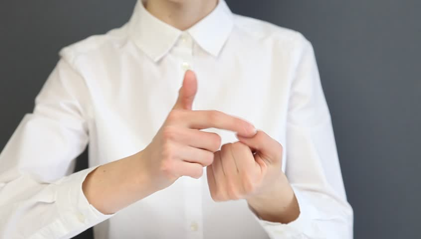 Unrecognizable businesswoman counting on her fingers