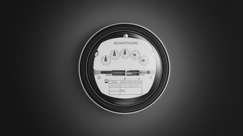 Kilowatt Usage Meter : Electrical kilowatt hour meter stock footage video