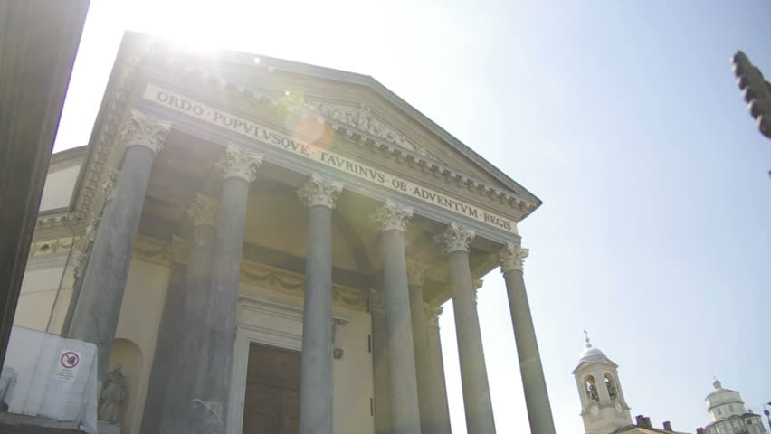 Italian Dome in Turin with lens flare