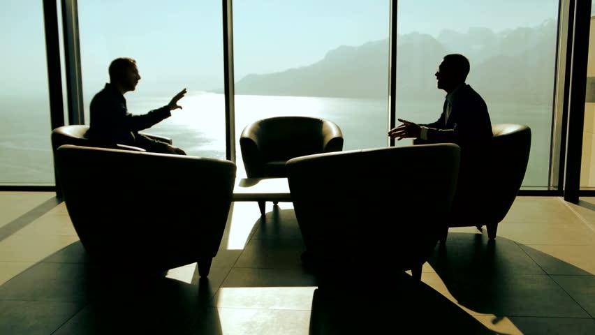 Modern glass meeting room business meeting businessman for Luxury wallpaper companies