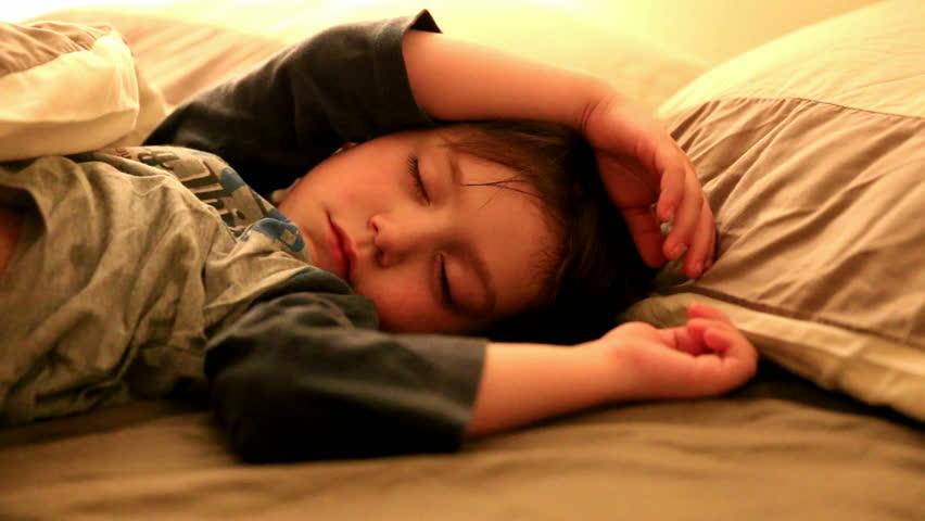 Little boy sleeping - HD stock video clip