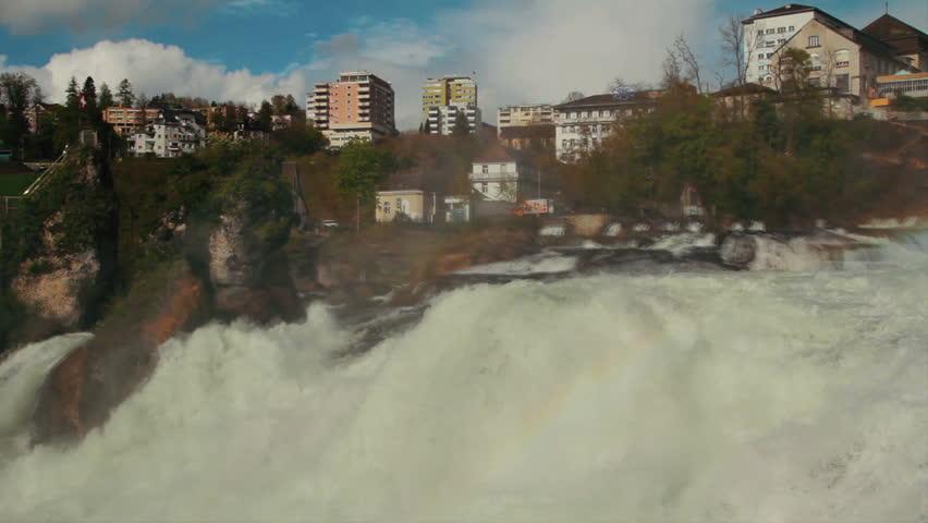 Rhine Falls near Schaffhausen in Switzerland - circa 2012 - HD stock footage clip