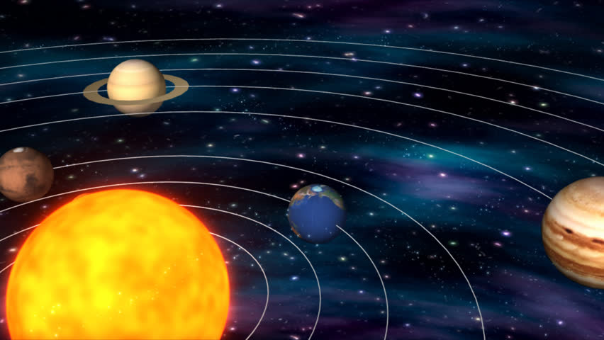 Solar System - HD stock footage clip