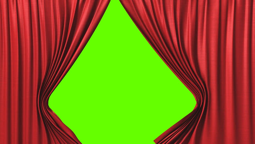 Opening red curtain, 3d animation - HD stock footage clip