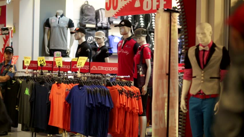 KUALA LUMPUR, MALAYSIA - CIRCA JUNE 2014: Kappa store. Kappa is an Italian sportswear brand founded in 1978 in Turin, Italy.