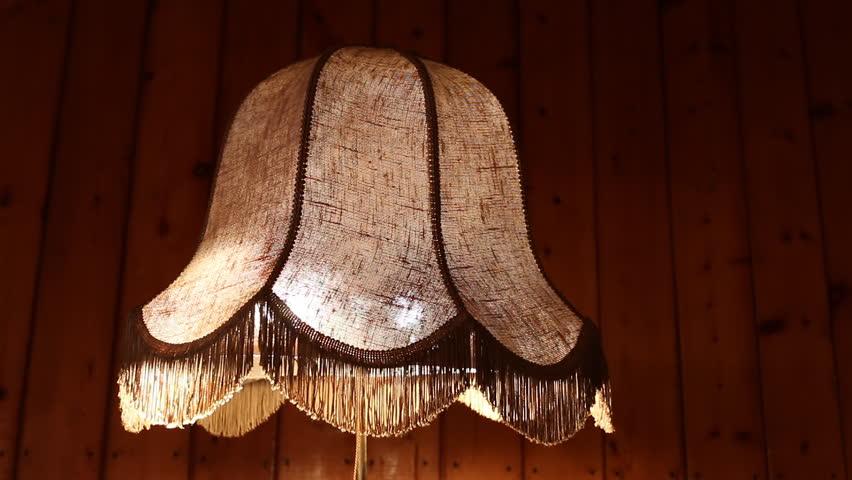 vintage style floor lamp torchere with bell shape fringed. Black Bedroom Furniture Sets. Home Design Ideas