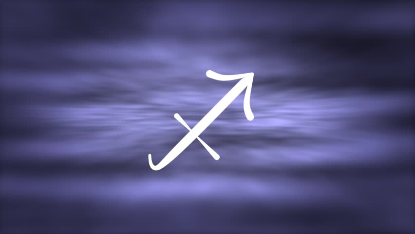 Sagittarius- sign of the zodiac - animation, - HD stock footage clip