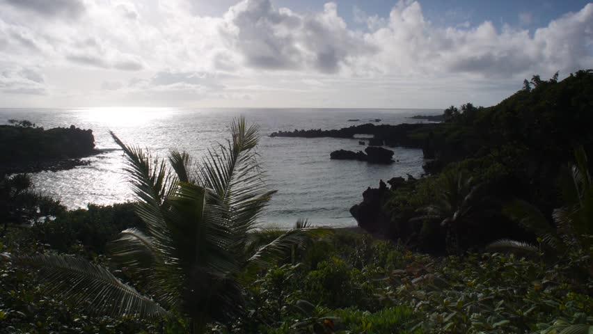 Waianapanapa State Park, Hawaii - May, 2014 - Medium shot of Waianapanapa State Park.