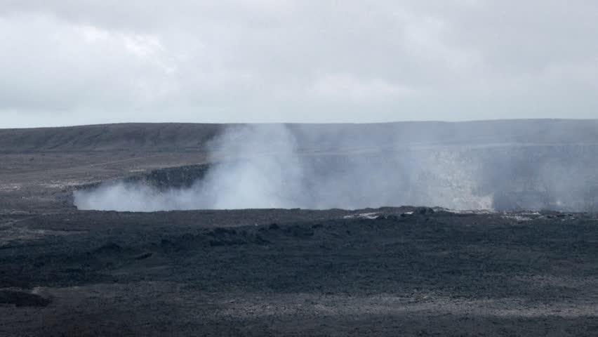 Volcanoes National Park, Hawaii - May, 2014 - Close up of the Halemaumau Crater.