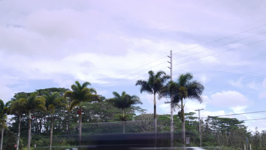 Pahoa, Hawaii - May, 2014 - Timelapse of the Pahoa sign along Highway 130.