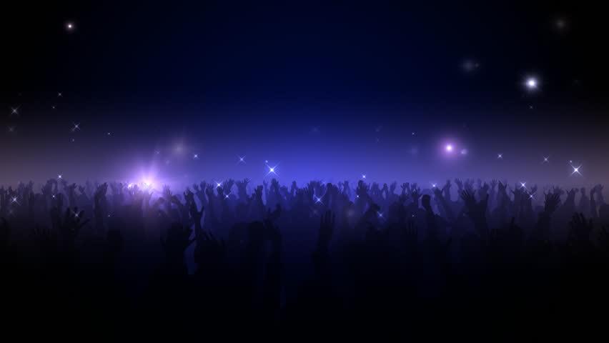 Live Concert. Crowd of cheering.