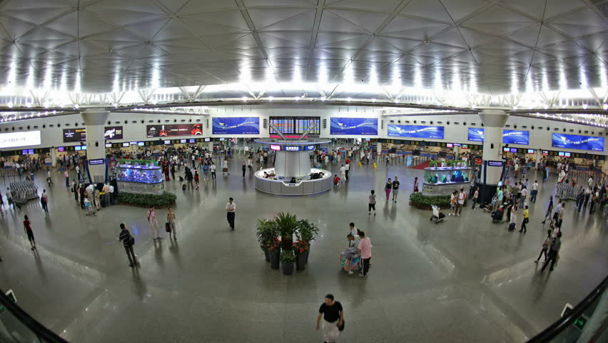 Shenzhen, China - August 20: Shenzhen airport handled 24,486,406 passengers in 2009, according to Civil Aviation Administration of China, making itself the fifth busiest in China, August 20, 2009