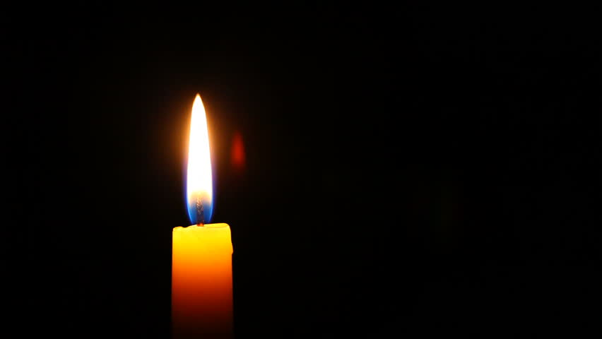 HD 1080p - Candle in high definition, much copyspace for own text - HD stock footage clip