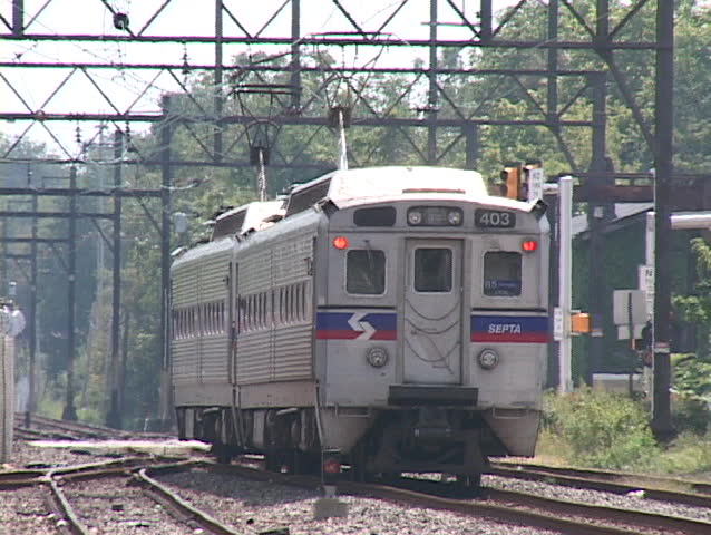 train leaving the station - SD stock footage clip