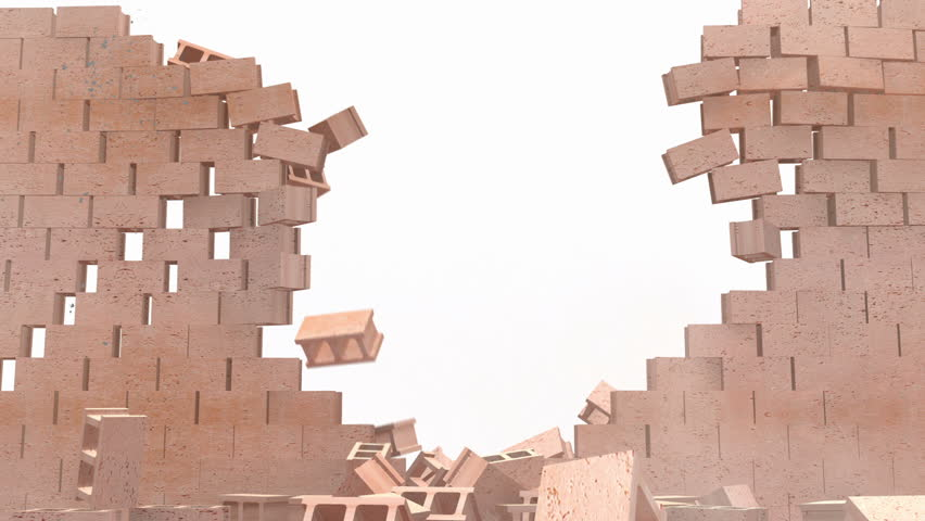 Brick wall destroyed transition comes with Alpha