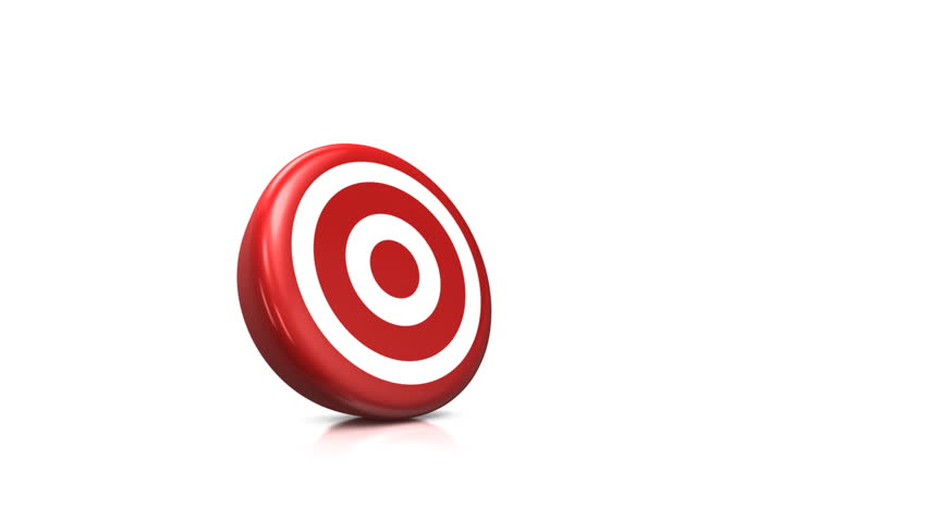 bull's eye - 3d animation of two arrows both hitting exactly in the middle of the target
