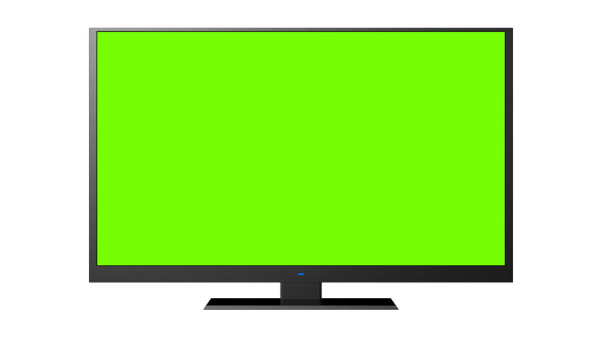 modern tv, turning channels animation with the  green screen - HD stock video clip