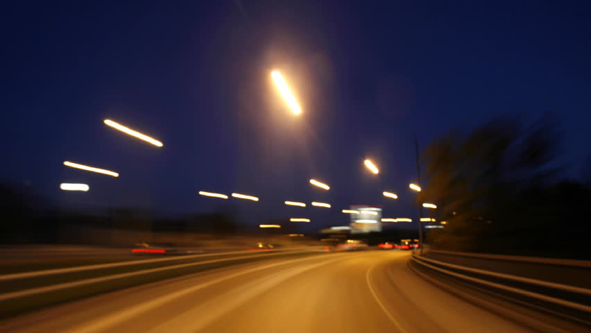 Nightdriving - HD stock footage clip
