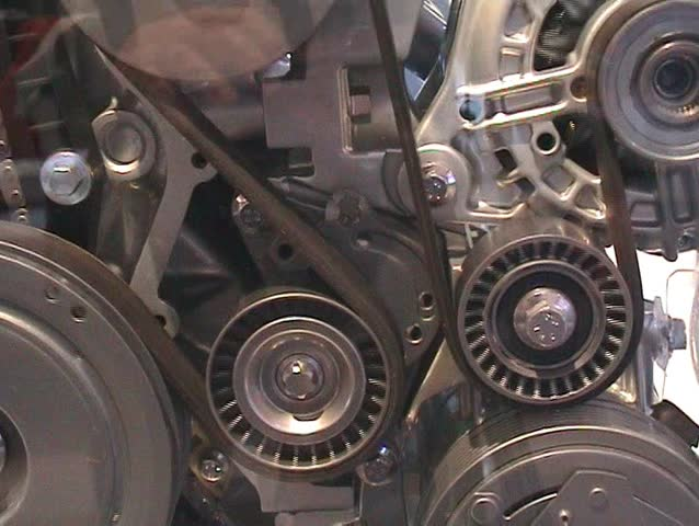Interior of car engine working - SD stock footage clip