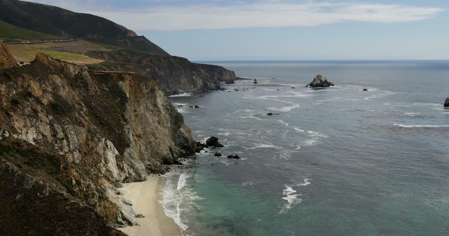 Pacific Ocean Big Sur California Beach 4k Hd Desktop: Big Sur 10 Pacific Coastline California Stock Footage