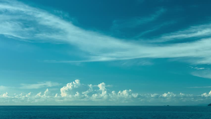 Video 3840x2160 UHD - The sky over the ocean. Daytime timelapse - 4K stock video clip