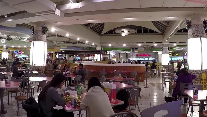 Burnaby (BC) Canada  city photo : Burnaby, BC, Canada November 24, 2014 : People enjoying meal in ...