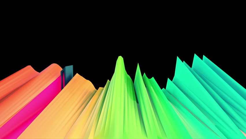 Abstract audio visualizer laser fader waveform. High definition motion background for music videos, broadcast, television, film, editing, live visuals, VJ loops, youtube shows, or art installations.