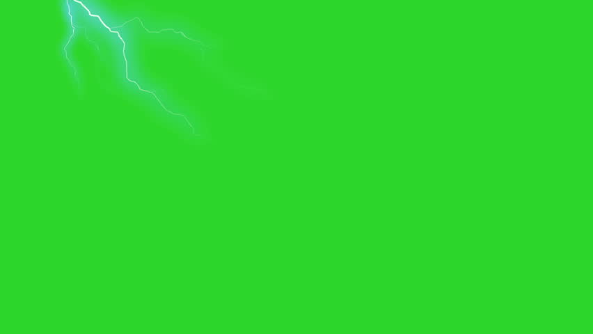 Lightning Strike - Green Screen