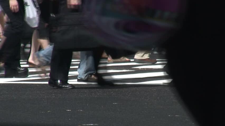 Tokyo pedestrians - HD stock video clip