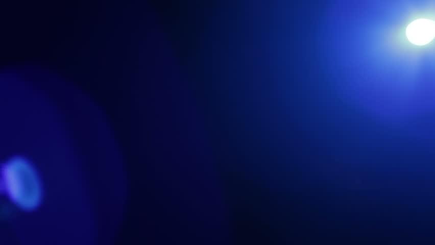 Blue spotlight lens flare