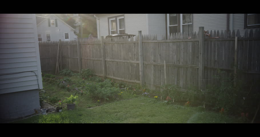 Classic East Connecticut backyard with lens flare. Photographed on a Red Epic camera at 5k widescreen format at 120 frames per second (slowmotion).