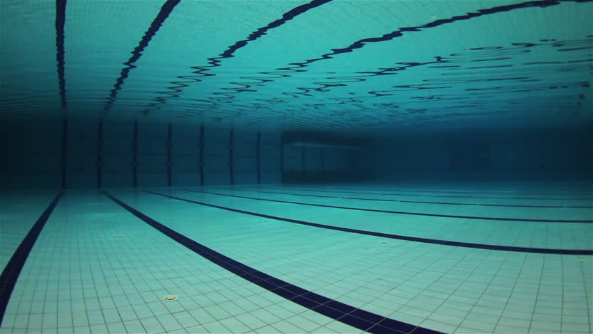 Empty olympic swimming pool underwater stock footage video for Empty swimming pool
