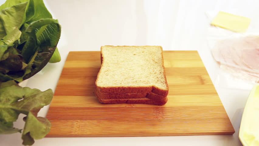 Make a sandwich, dolly shot