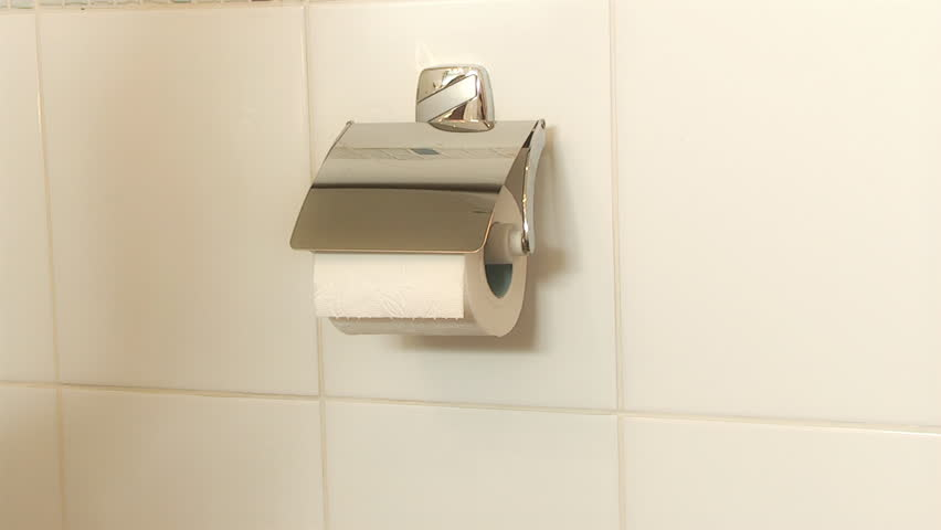 Person getting toilet paper