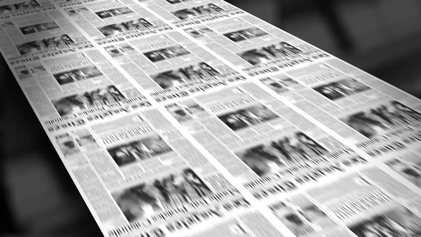 Extra! Newspaper Headline (Reveal and Loop) 4K HD Animation