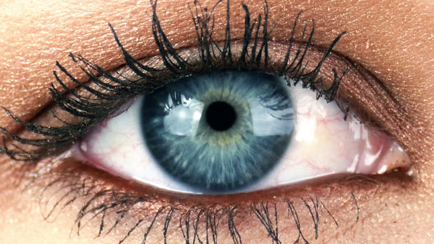 Close-up Macro Shot of Female Human Eye Blinking 4K
