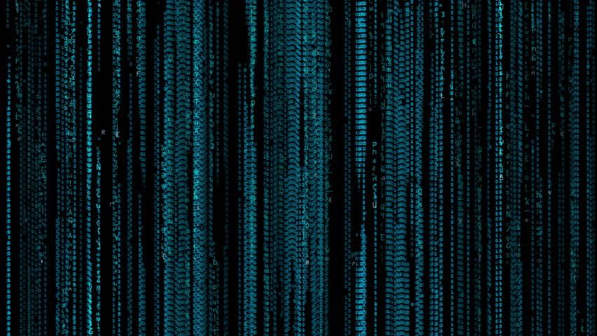 Digital Computer Code Data Matrix 4K Animation