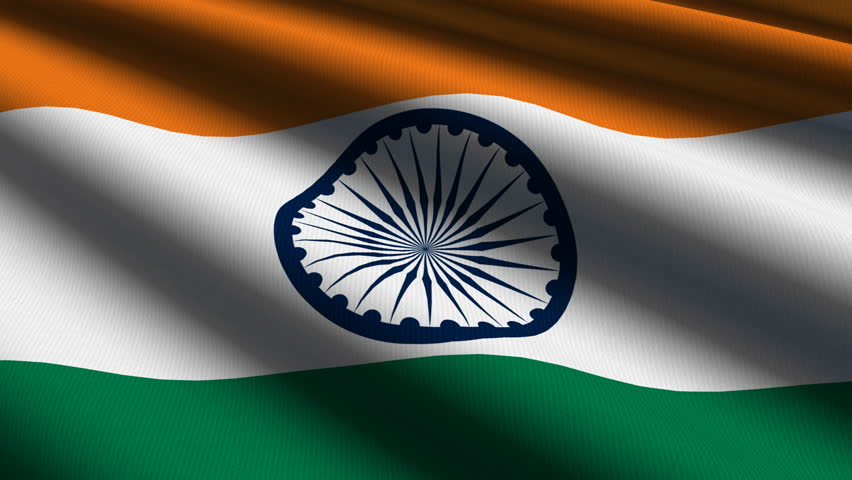For Indian Flag Hd Animation: I Love India FHD Alpha Loop Stock Footage Video 734008
