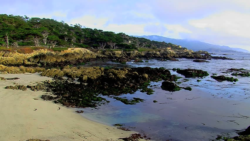 Footage of Pebble beach California - HD stock footage clip