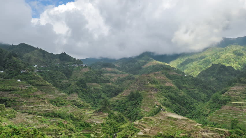 UNESCO world heritage site - ancient rice terraces in northern Philippines