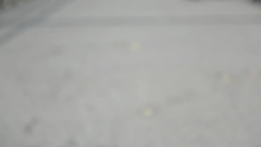 Unrecognizable people walking on the street, intentionally blurred, time lapse, high key video