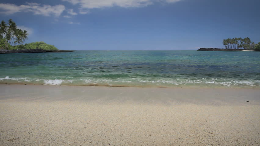 Hawaiian Beach, shady area - HD stock footage clip
