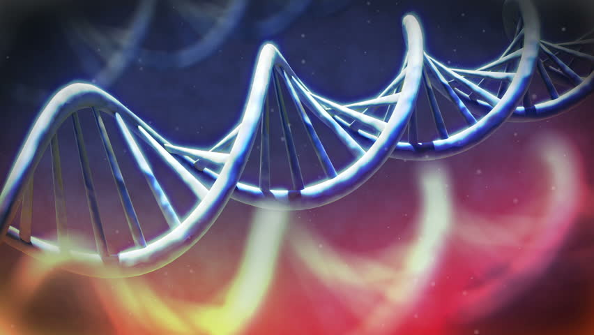 DNA macro view with small particles - HD stock footage clip