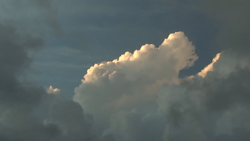 Storm clouds rolling in on the sky in time-lapse - HD stock video clip