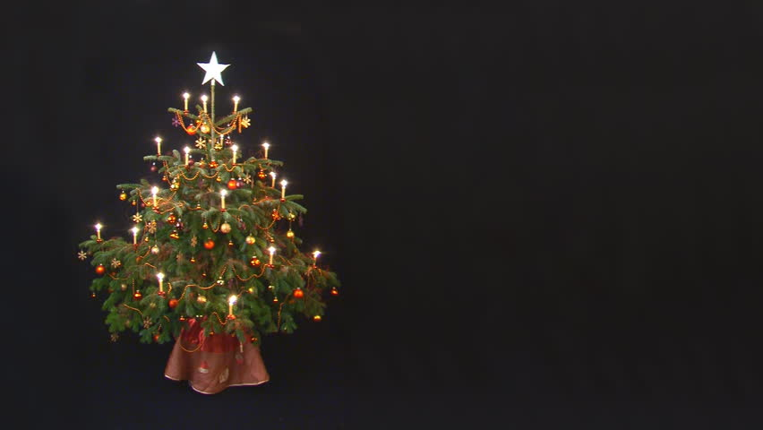decorated christmastree with place for text - loop - HD stock footage clip